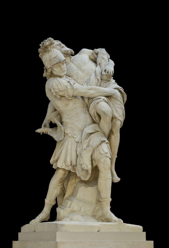 אייניאס סוחב את אביו