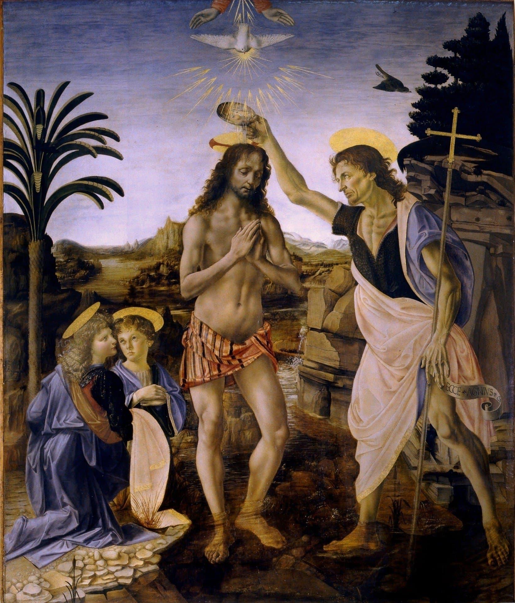 הטבילה של הטבילה של ישו של ורוקיורוקיו