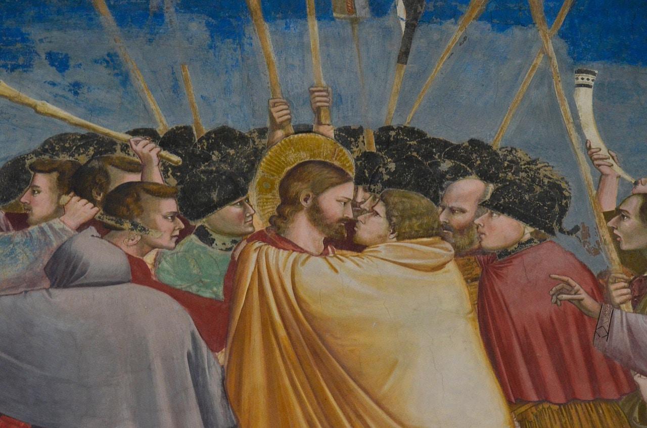 """""""הנשיקה"""" יהודה איש קריות מסגיר את ישו בקפלה"""