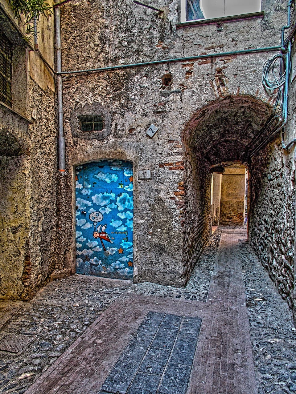 רחוב עתיק באלבנגה